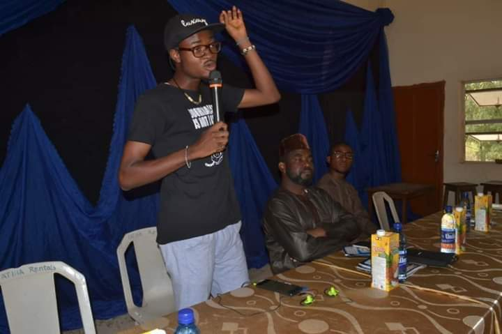 Adejumo Kabir leading a training