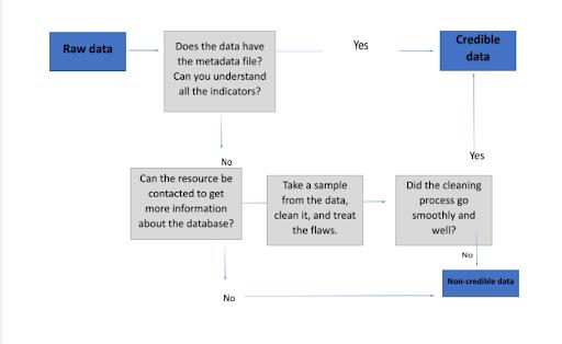 Data verification workflow diagram