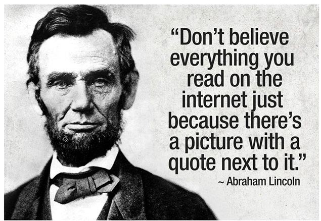 Abraham Lincoln with fake quote