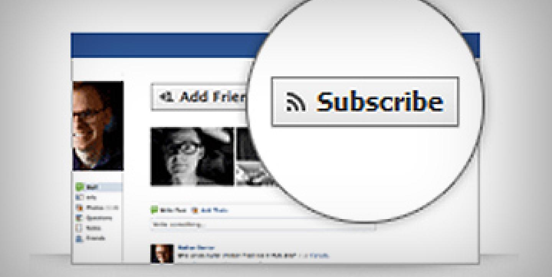 فيسوك يضيف زر Subscribe للصفحات