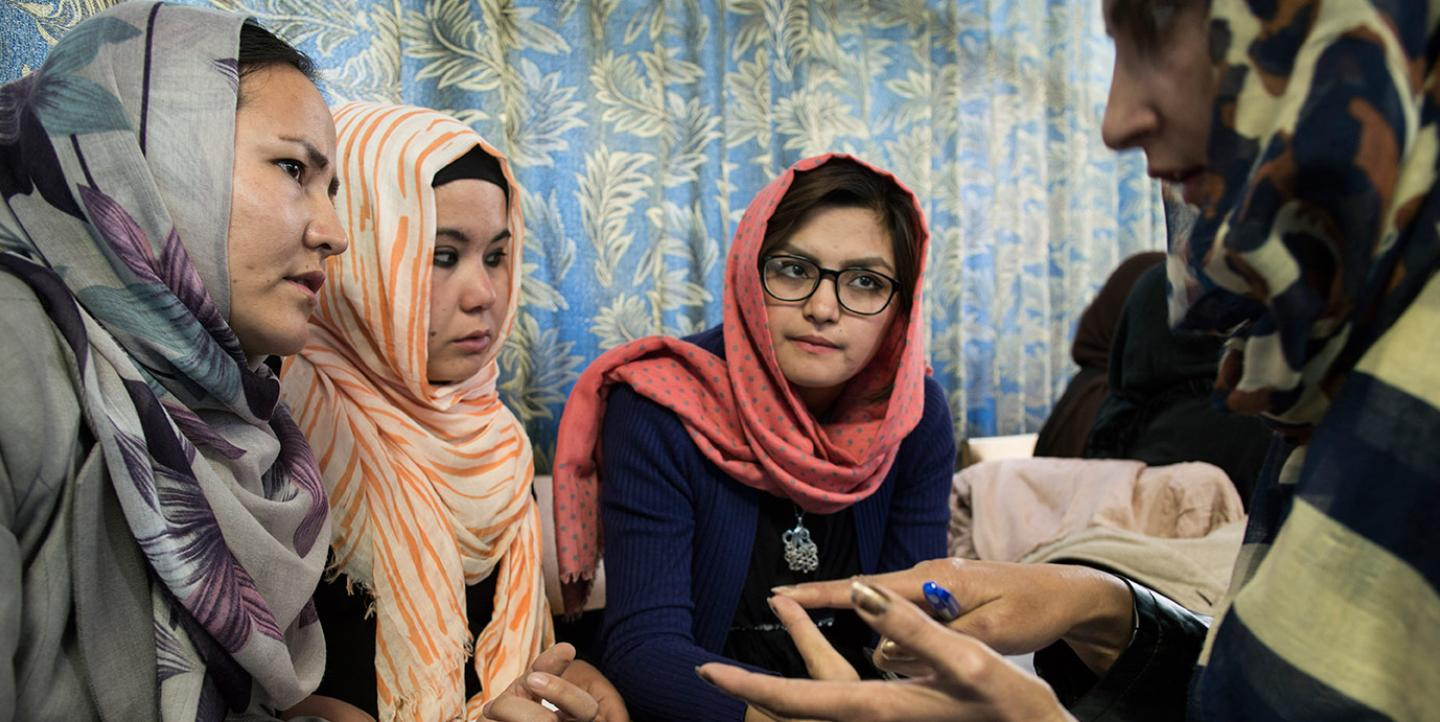 Training Afghan women journalists
