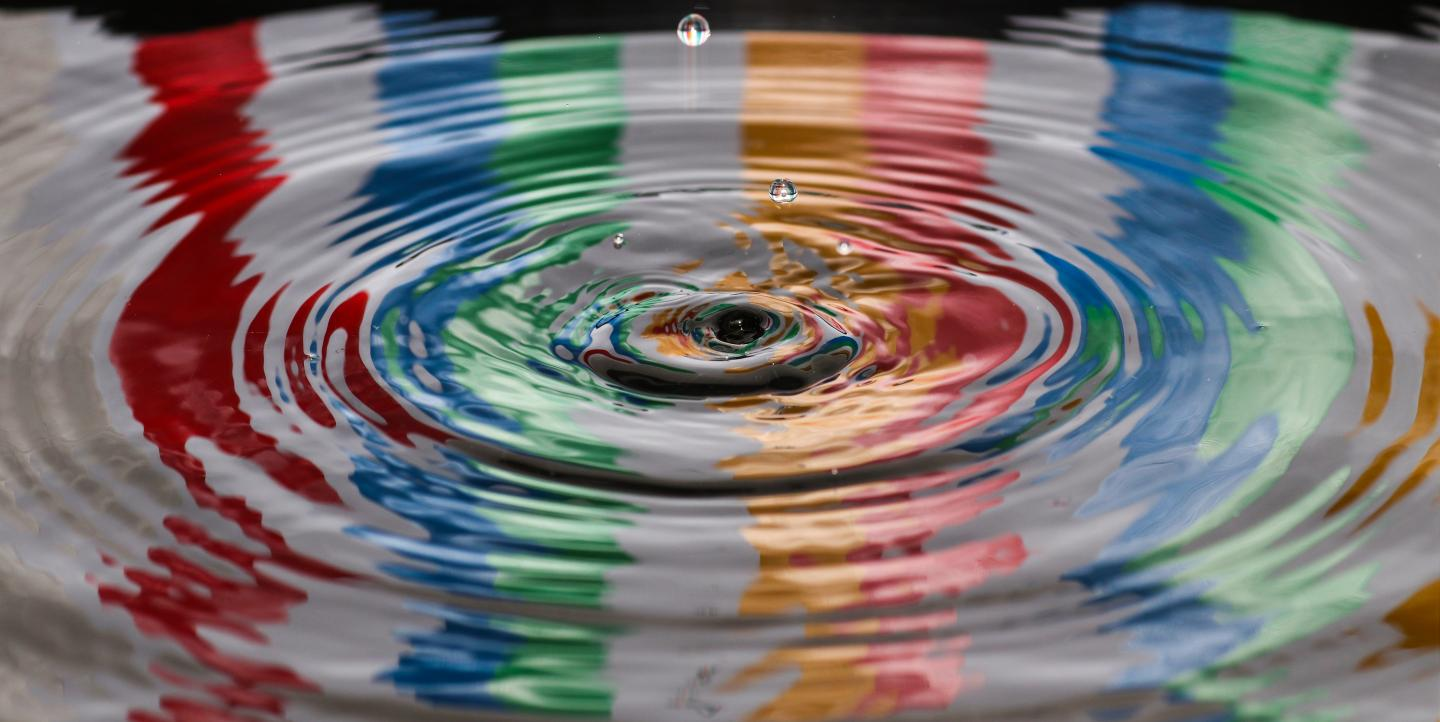 Water droplet impact