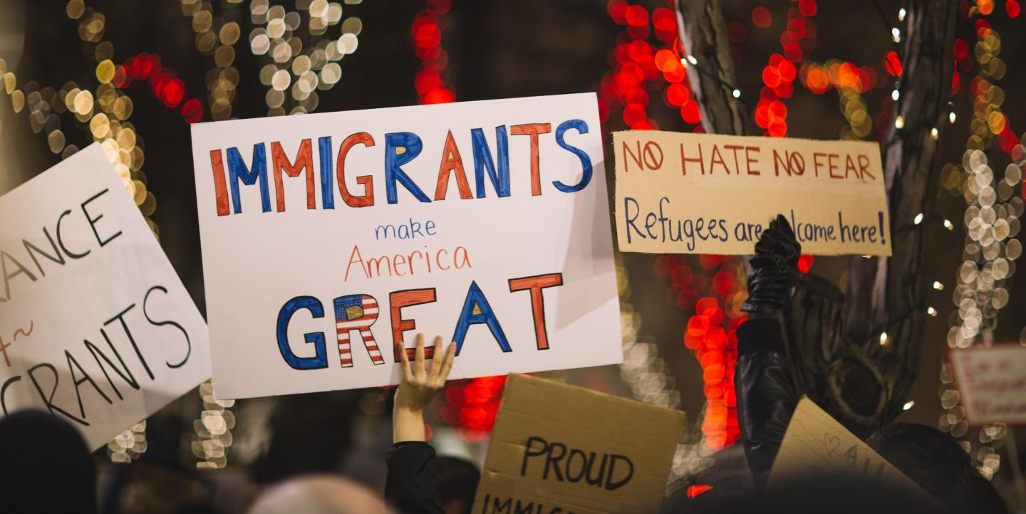 Rally to support U.S. immigrants