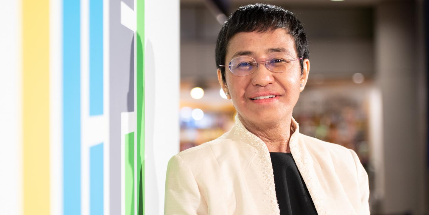 Filipino-American journalist Maria Ressa
