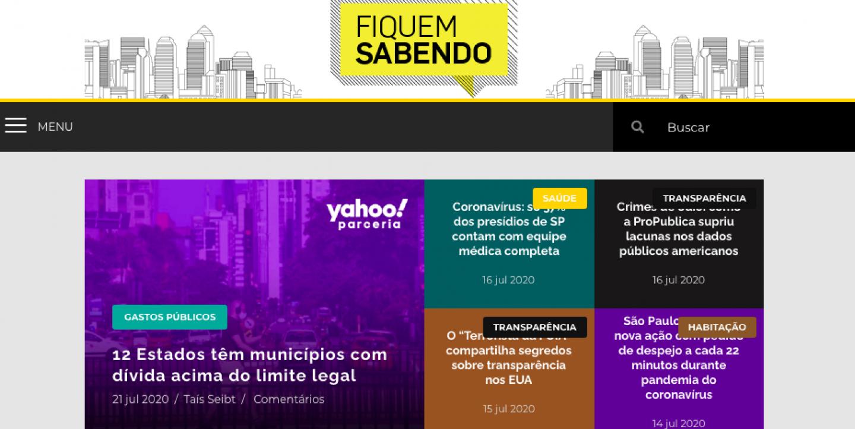 Print do site do Fiquem Sabendo