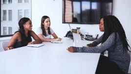 Women in conference room